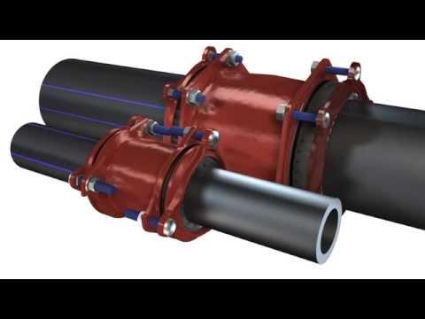 Соединение и ремонт труб из всех материалов без сварки от Georg Fischer WAGA.Муфты Multi/Joint.