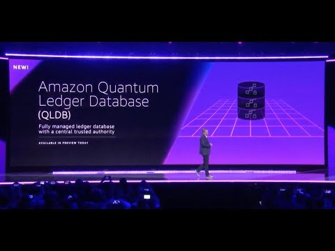 AWS re:Invent 2018 - Announcement of Amazon QLDB