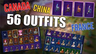 Alpine Ace Back Blings on 56 Outfits | Alpine | Canada | China | France - Fortnite