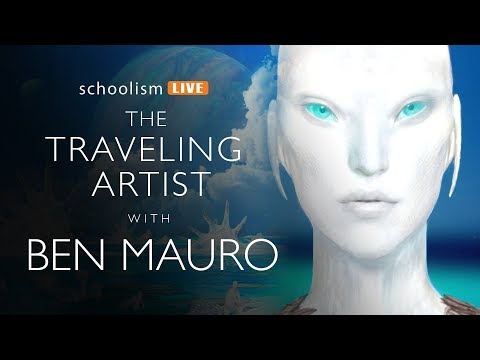 The traveling artist with Ben Mauro