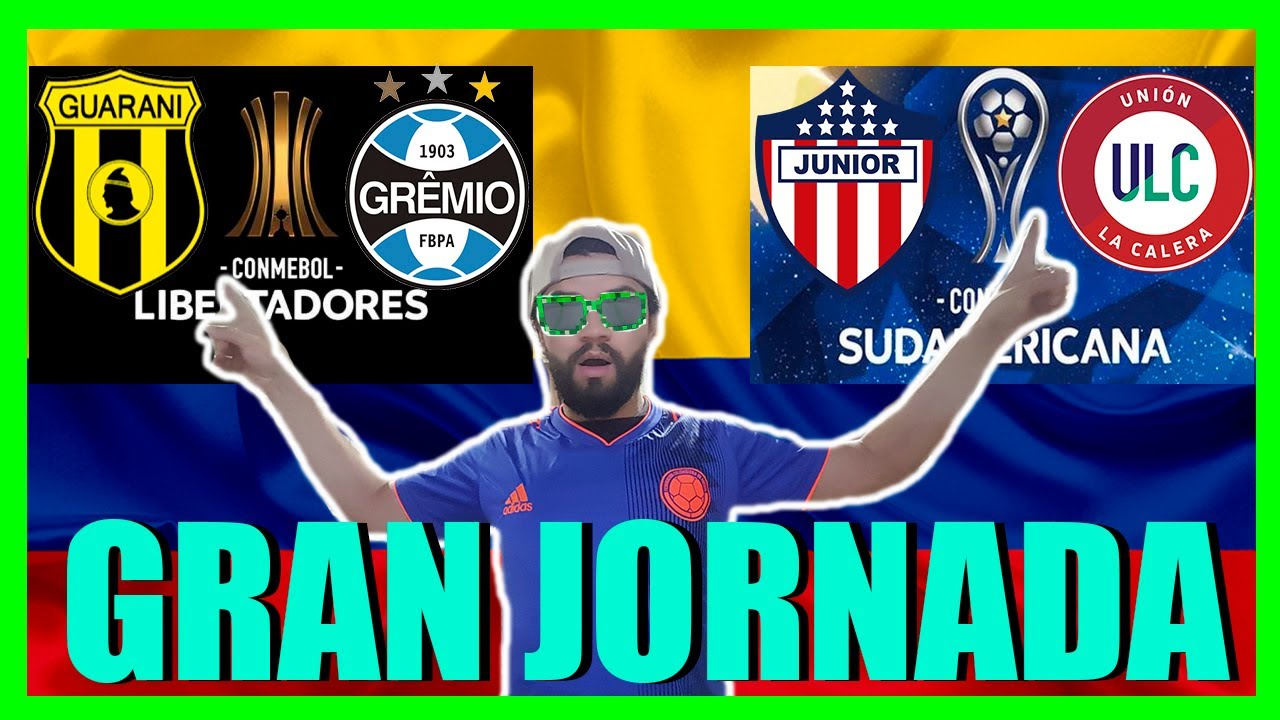 🔴EN VIVO: JUNIOR vs UNION LA CALERA / GUARANI vs GREMIO / LIBERTADORES / SUDAMERICANA / REACCIONES