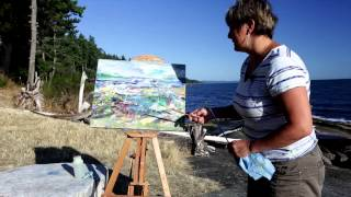 Jane Appleby - Galiano Island - Abstract Oil Study
