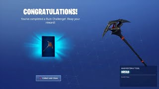 Ruin DREAD Pickaxe Unlocked!!! Gameplay and Review Fortnite Battle Royal