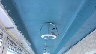 Тканевые натяжные потолки Descor на балконе лоджии без нагрева помещения!
