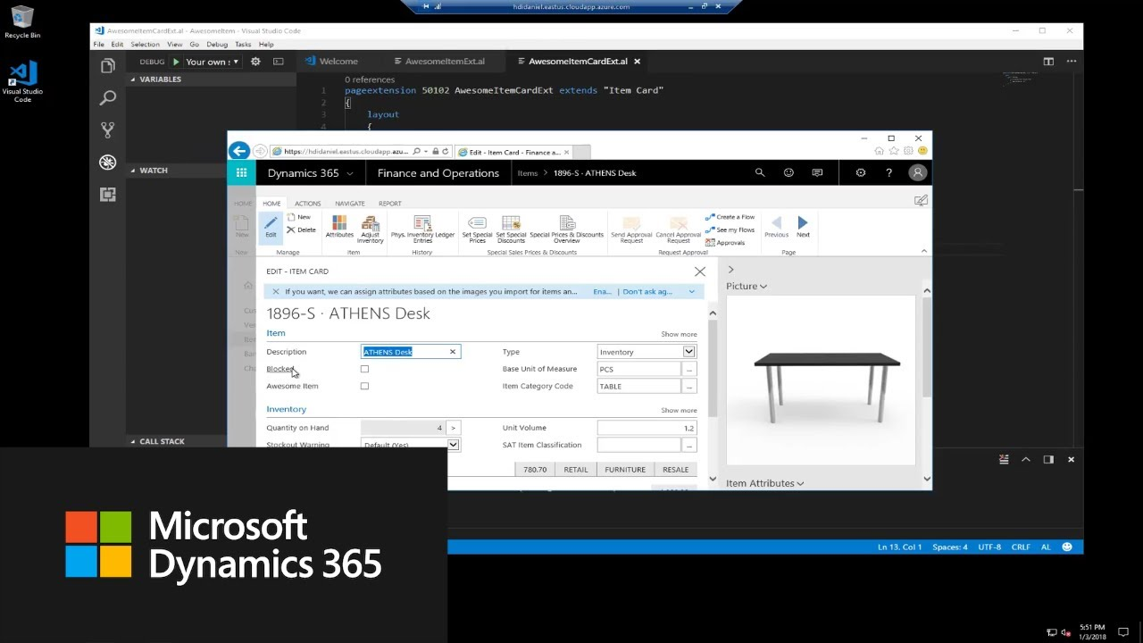 How do I add a field in an extension? | Dynamics 365 Business Central Apps