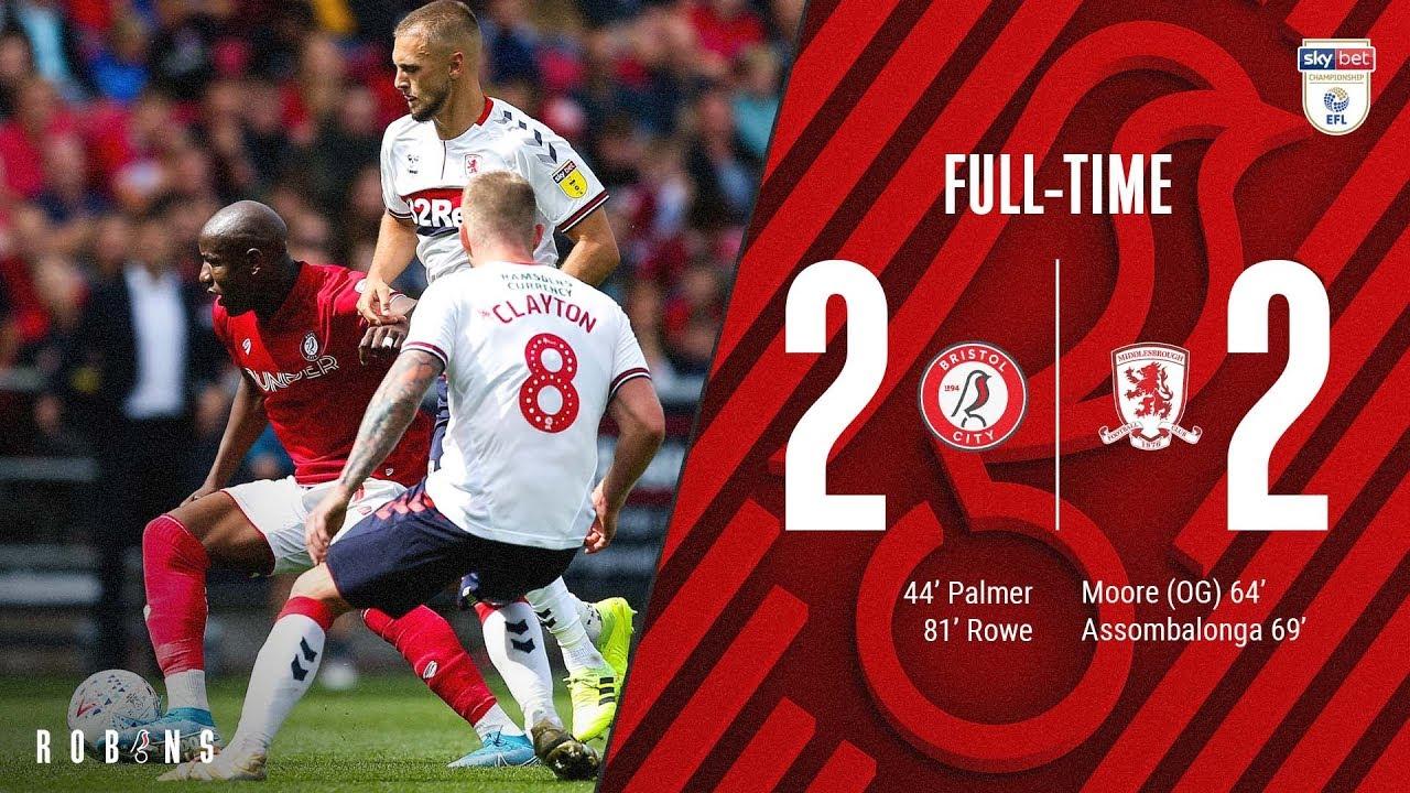 Highlights: Bristol City 2-2 Middlesbrough