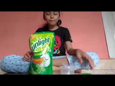 Cara membuat slime dari shampo dan sunlight