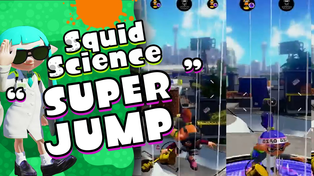 quick super jump and stealth jump abilities splatoon squid science