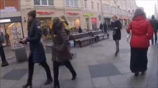 Walking Moscow Streets Москвы near Red Square Красный квадрат Late Autumn Winter