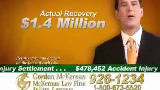 Baton Rouge Trucking & Car Wreck Attorney - GORDON MCKERNAN - Commercial - Zero to $1.4 Million