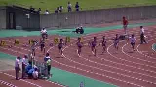 2013中部中学通信 男子1年100m予選4組