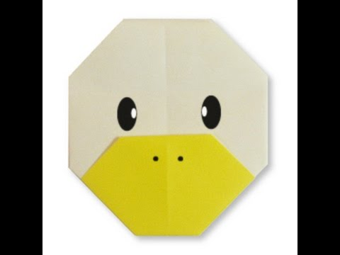 How To Make Origami Duck Face Youtube