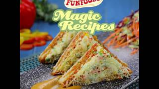 Tandoori Pizza Sandwich | Magical recipes by FunFoods by Dr. Oetker