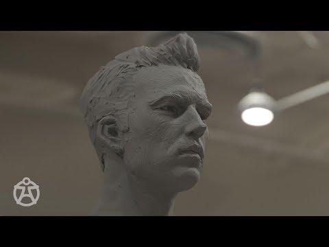 Live demo - male head sculpt Mark Newman – portrait sculpture