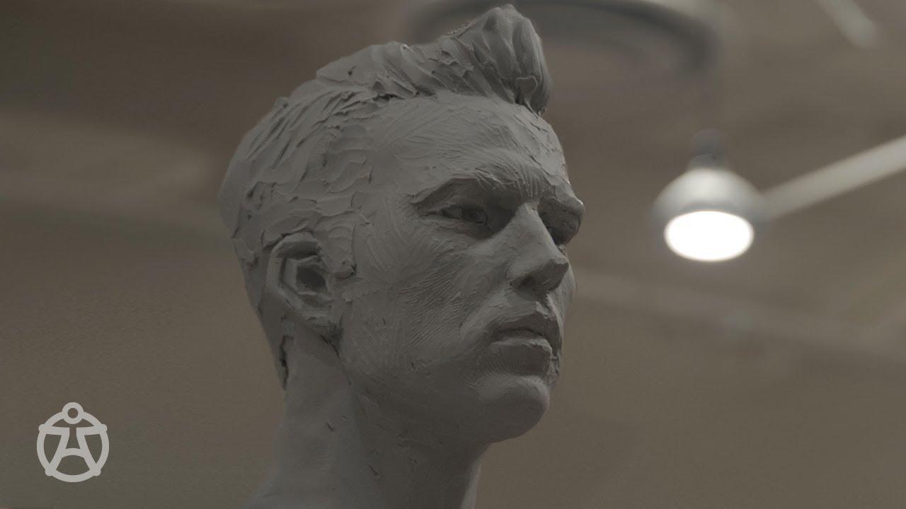 Download Live demo - male head sculpt Mark Newman – portrait sculpture