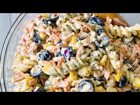 Quick And Easy Pasta Salad/ Italian Dressing Pasta Salad
