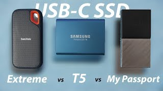 Samsung T5 vs SanDisk Extreme Portable vs WD My Passport: What's the best USB-C SSD?