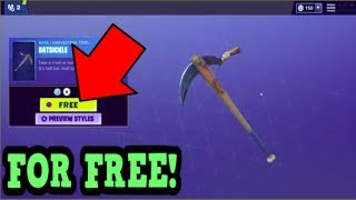 HOW TO GET BATSICKLE PICKAXE FOR FREE! (Fortnite Old Pickaxe)