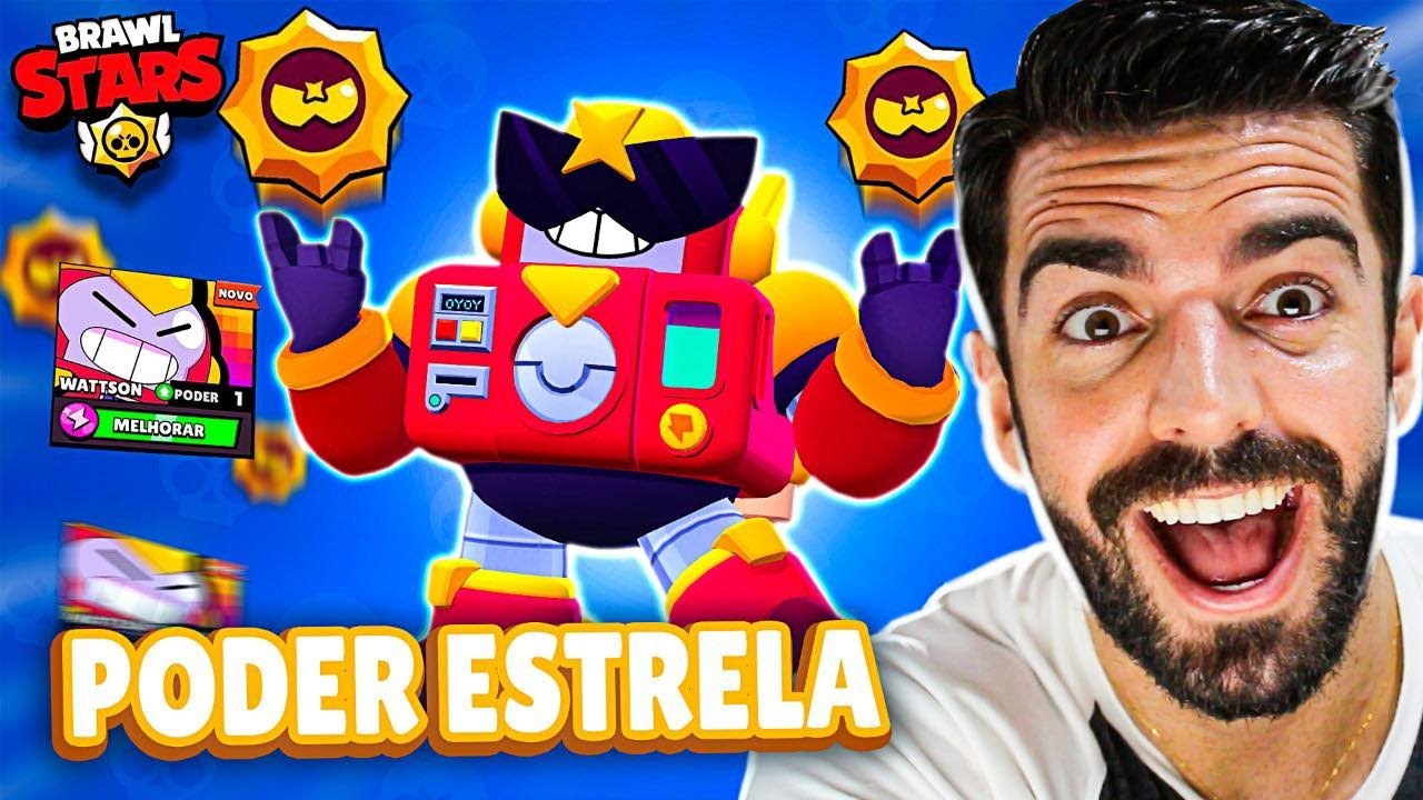 COMPREI O NOVO PODER ESTELAR DO WATTSON NO BRAWL STARS!