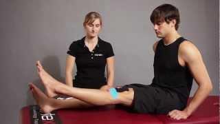 Kinesio Tape, Kinesiologie Tape bei Schmerzen an der Patella (Patellaspitzensyndrom)
