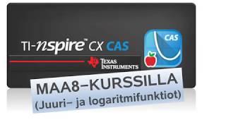 TI-Nspire CX CAS - MAA8-kurssilla