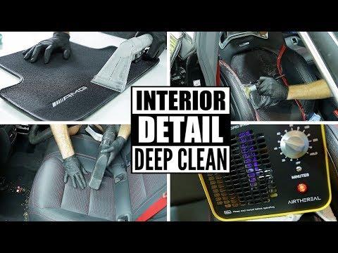 Complete Full Car Interior Detailing! Cleaning A Mercedes CLA45 AMG