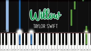 Taylor swift - willow   piano tutorial