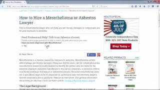 Mesothelioma Law Firm  Part 5