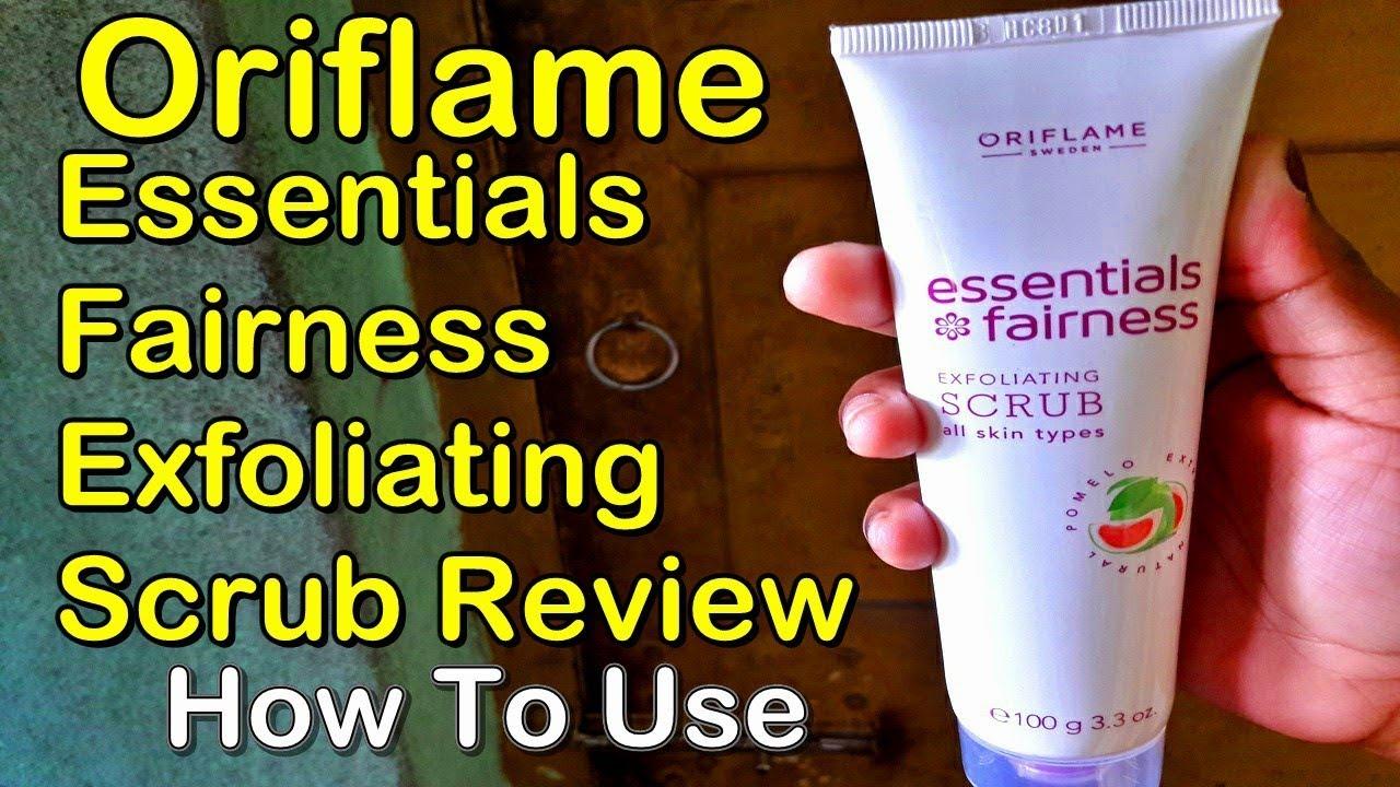 oriflame essential fairness face scrub