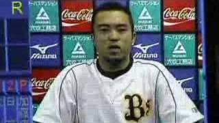 2007年10月2日 オリックス今季最終戦(京セラドーム) 試合前にバックス...