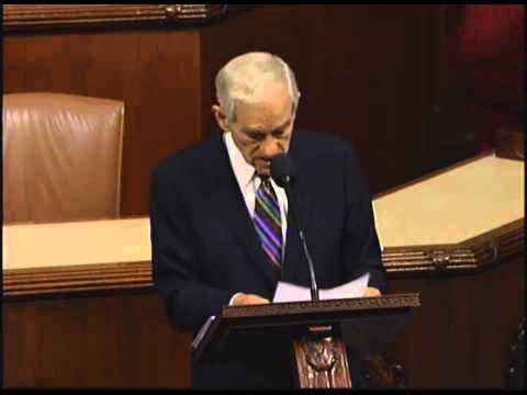 Congressman Ron Paul's Farewell Speech to Congress - YouTube