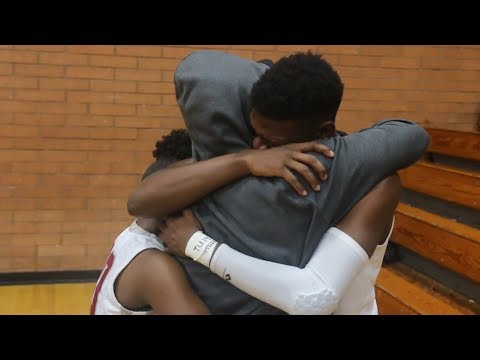 dad surprises son at his basketball game (Emotional Version) Surprise!