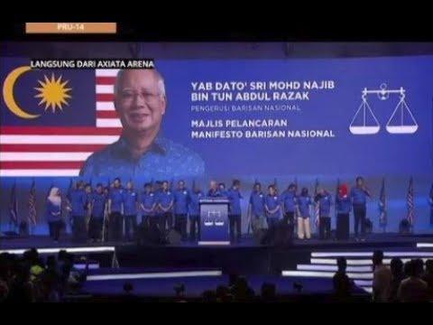 #MalaysiaMemilih: Majlis pelancaran Manifesto Barisan Nasional