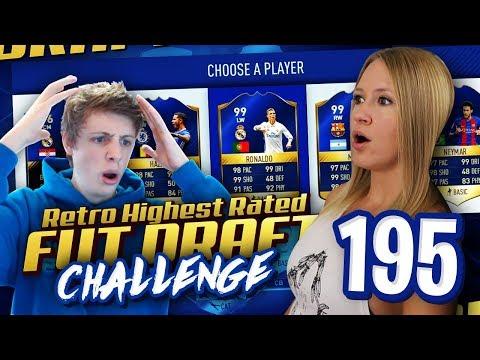 BREAKING W2S 195 RETRO HIGHEST RATED FUT DRAFT CHALLENGE! FIFA 17