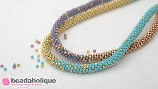 Download Video How to Make the Long Beaded Kumihimo Necklace Kit MP3 3GP MP4