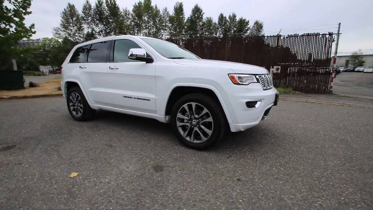 2017 jeep grand cherokee overland bright white clearcoat hc601954 redmond seattle youtube. Black Bedroom Furniture Sets. Home Design Ideas