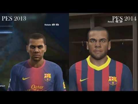 PES 2014 VS PES 2013 COMPARATION FACES/CARAS F.C BARCELONA HD