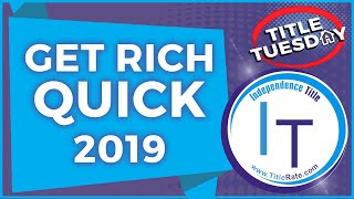Happy New Year 2019 Get Rich Quick in Real Estate