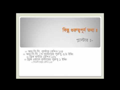 Estimating for civil engineering(Bangla)