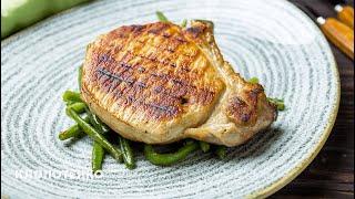 Как Приготовить Стейк из Свинины с Гарниром из Спаржи   Steak