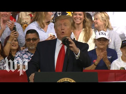 Trump holds a rally in Florida