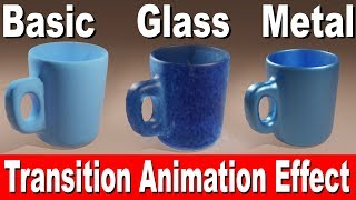 blender tutorial : object transition animation effect using principal shader in cycle render
