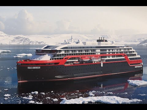 Hurtigruten NEW ship for 2018 - MS Roald Amundsen