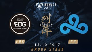 [15.10.2017] EDG  vs C9 [Group Stage][CKTG2017][Bảng A]