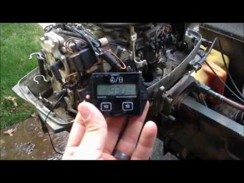 Johnson Outboard Marine Motor Tachometer / Hour Meter Install
