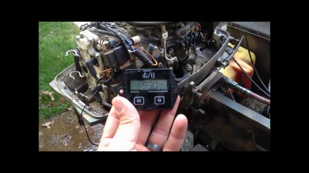 Johnson Outboard Marine Motor Tachometer / Hour Meter Install on