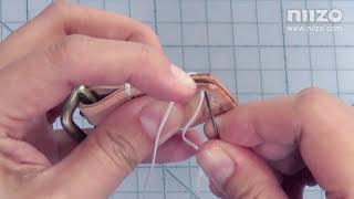 基本針法教學 part 8 of 8 (皮革雙針縫 ) - Amy林素年示範