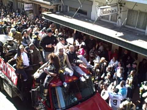 Who Dat Parade Bobby Hebert Float.AVI