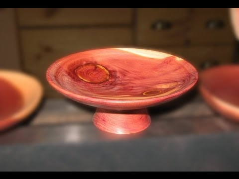 Woodturning - small Red Cedar Plate