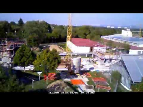 Timelapse: Bau des Integrierten Robotik-Zentrums (Integrated Robotics Center) Universität Freiburg